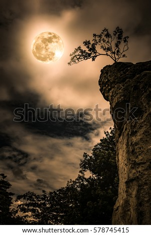 boulders against sky with...