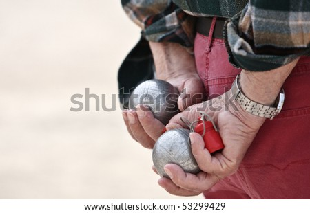 Boules (Petanque), French riviera