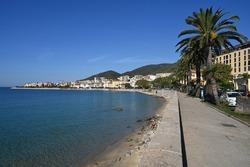 Boulevard Pascal Rossini and Saint-François beach in Ajaccio