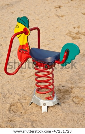 Bouncing chair for kids in a park