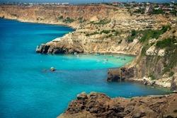 Bounty azure beach yacht paradise in Crimea