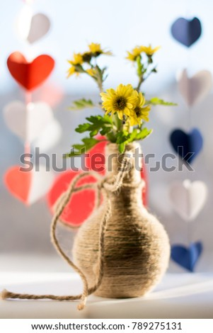 bouquet and hearts for lovers #789275131