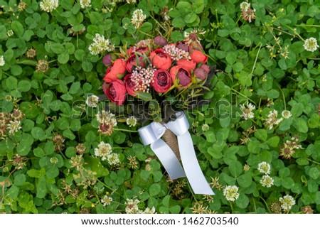 Bouquet Artificial Flowers Marriage Wedding  #1462703540