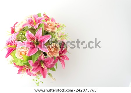 bouquet flowers isolated on white background