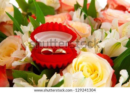 bouquet flowers on a white background, is isolated