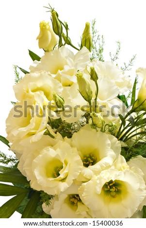 bouquet of beige lisianthus flowers - stock photo