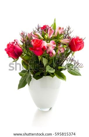 bouquet of blossoming red roses #595815374