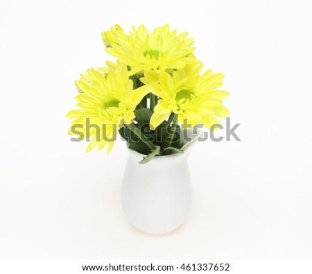 Bouquet Of Chrysanthemum In A Vase Ez Canvas