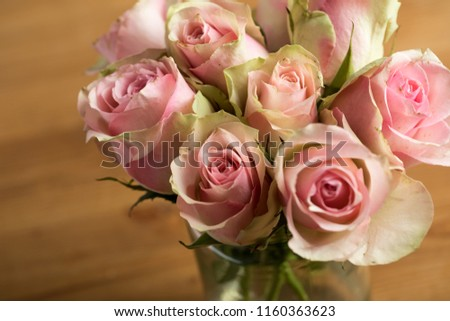 Bouquet of cream, rose and pink colour Cezanne Roses