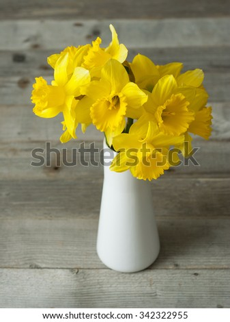 bouquet of daffodils on...