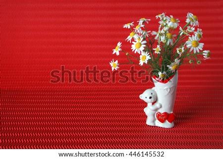 Free Photos Cute Teddy Bear With Daisy On White Background Avopix