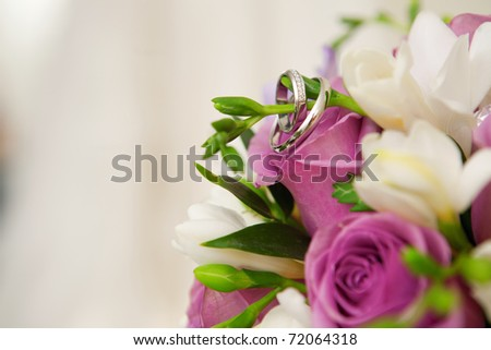 wedding flowers background. flowers and wedding dress
