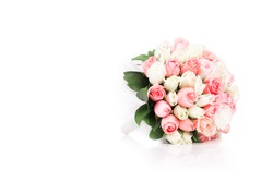 Bouquet of flowers isolated on white
