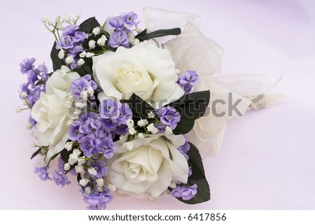 stock photo Bouquet of flowers on lavender background