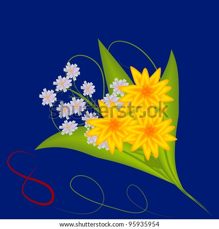 bouquet of flowers on March 8