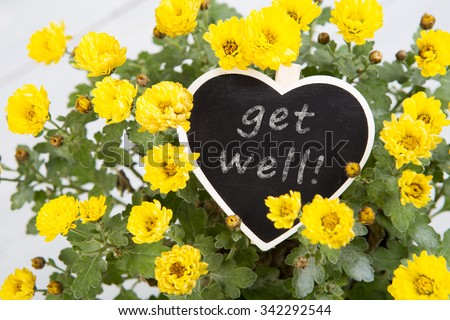 bouquet of flowers with a sign heart #342292544