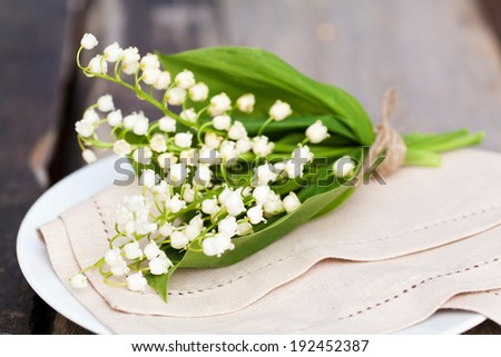 Bouquet of lily of the valley outdoor