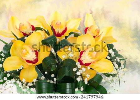 bouquet of orchids