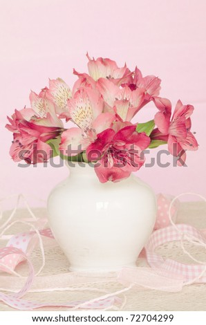 Pink Ribbon Trio Centerpiece // Hostess with the Mostess®