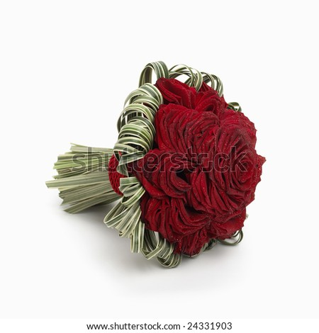 Bouquet of red roses isolated on a white background