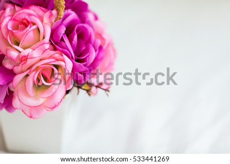 Bouquet of roses flower decor stock photo