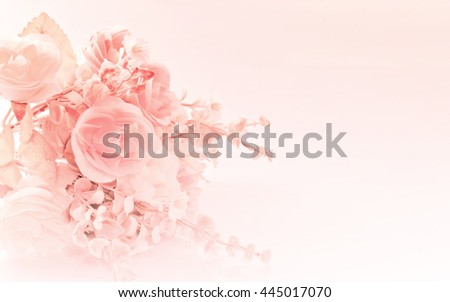Stock Photo Bouquet of roses in pastel color style soft blur for background.