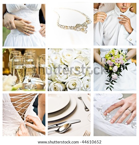 Bouquet of wedding images in color