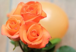 Bouquet with orange roses
