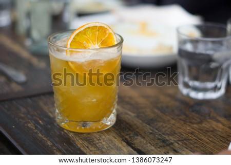 Bourban Orange Crush Cocktail at a restaurant #1386073247