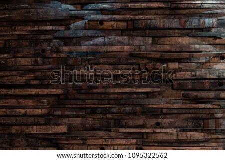 Bourbon Barrel Staves on Wall Texture Horizontal