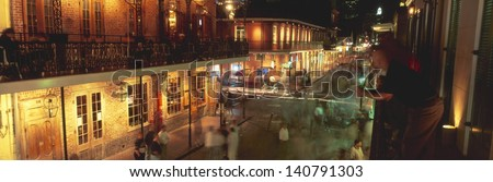 Bourbon Street at the French Quarter in New Orleans, Louisiana