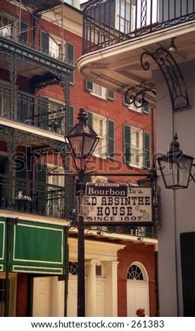 Bourbon Street Sign, New Orleans Louisiana