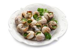 bourguignonne snail au gratin on dish