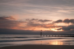 Bournemouth seascape sunset  long exposure