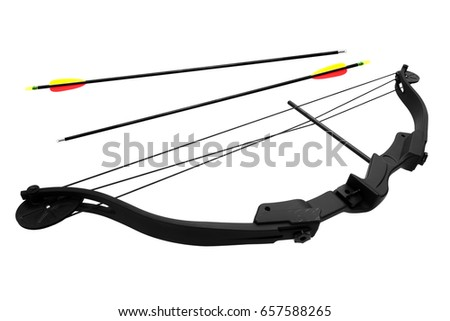 bow and arrow isolated on white background