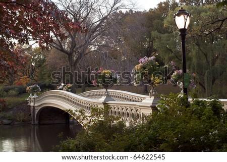 bow bridge in central park nyc. Bow bridge - Central Park,