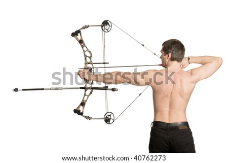 bow-hunter with a modern compound bow