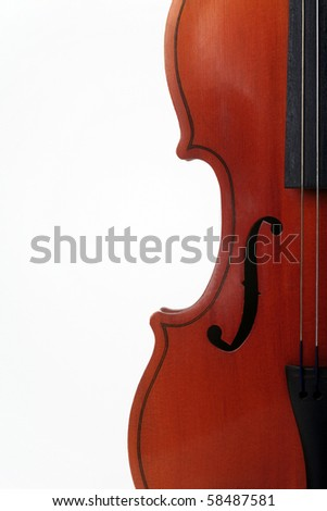 Bow instrument on a white background