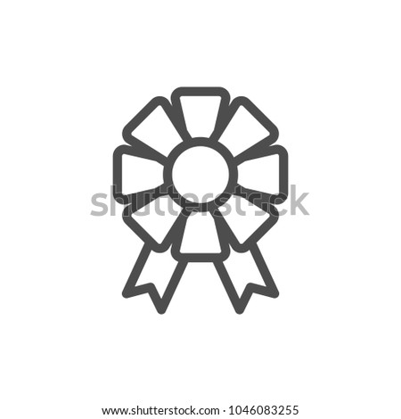 Bow line icon isolated on white