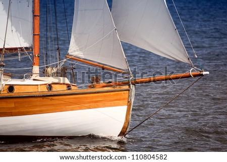 Bow of a sailing boat