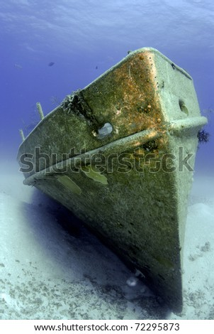 Bow of a shipwreck