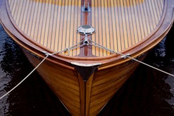 Bow of a wooden boat