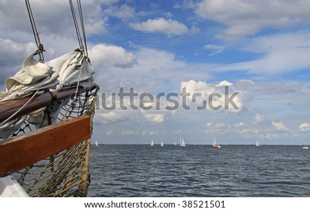 Bow of an old sailing ship 02