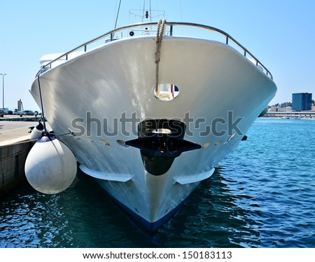Bow of the yacht