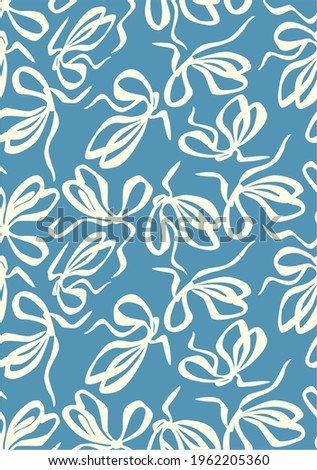 Bow pattern, Seamless texture. For fashion prints dark blue background, for textiles clothing pajamas, bed linen