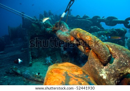 Bow side of the wreck