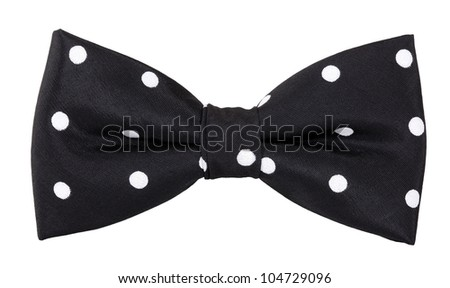 Bow tie black with white spots