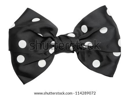 bow tie isolated on white background - stock photo