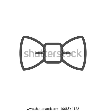 Bow tie line icon isolated on white