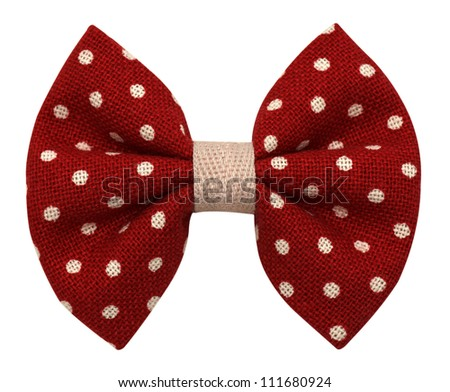 Bow tie with dots isolated on white